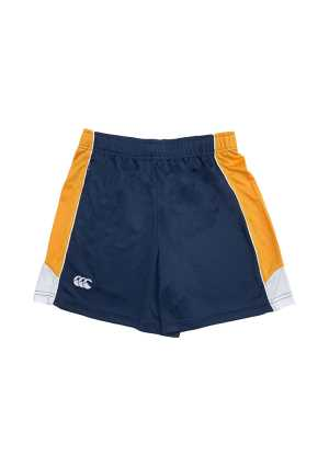 Hillcrest High School PE Shorts Navy/Gold/White